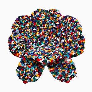Silla Flower de tela de Anacleto Spazzapan, 2005