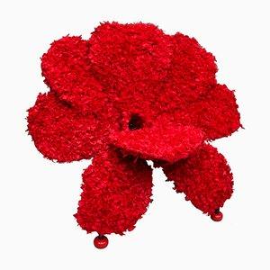 Sedia Fiore in tessuto rosso di Anacleto Spazzapan, 2006