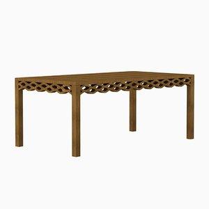 Mesa con tablón de nogal de Mario Alessiani para Dialetto Design