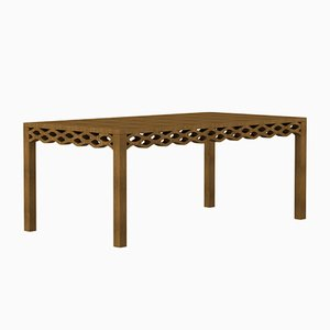 Table en Planches de Noyer par Mario Alessiani pour Dialetto Design