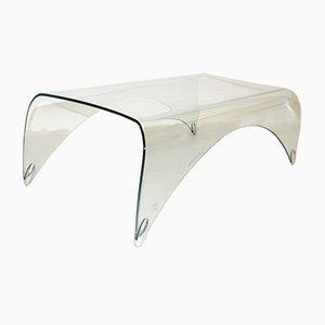Mesa de centro vintage de vidrio de Massimo Iosa Ghini para Fiamm
