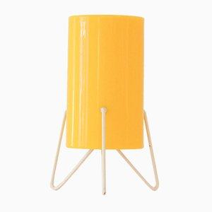 Lampada da tavolo in perspex giallo di Stilnovo, 1954