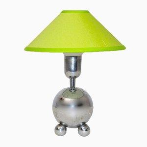 Lámpara de mesa cromada, años 50