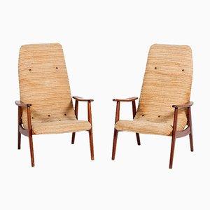 Senior Armlehnstühle von Louis van Teeffelen für WéBé, 1950er, 2er Set