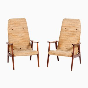 Senior Easy Chairs by Louis van Teeffelen for WéBé, 1950s, Set of 2