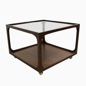 Mesa de centro de vidrio y caoba de Wilhelm Renz, años 60