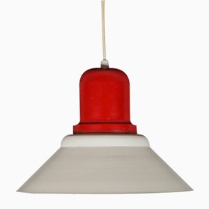 Red & Cream Metal Light