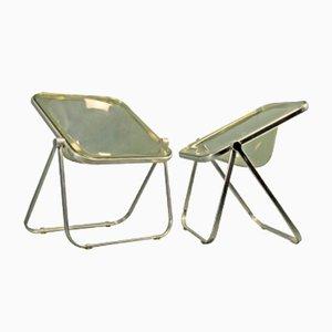 Chaises Pliantes Plona Vintage par Giancarlo Piretti pour Castelli, Set de 2