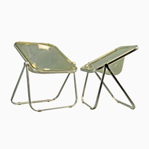 Vintage Plona Folding Chairs by Giancarlo Piretti for Castelli, Set of 2