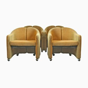 PS 142 Armchairs by Eugenio Gerli for Tecno, 1966, Set of 4