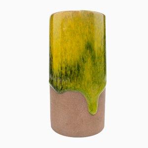 Jarrón escandinavo de cerámica parcialmente esmaltada de Gunnar Nylund para Nymolle, años 60