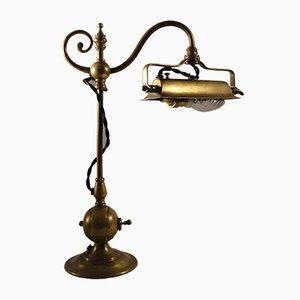 Lámpara de mesa modernista de latón, década de 1890
