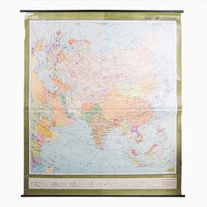 Carte d'Asie Vintage, 1960s