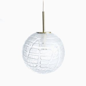 Large Glass Ceiling Light from Doria, 1970s