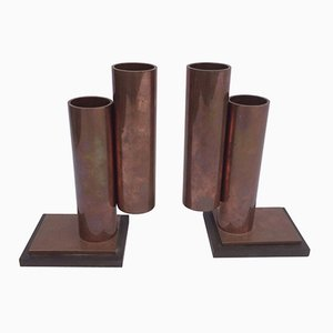 Vintage Modernist Bookends, Set of 2