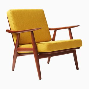 GE-270 Teak Lounge Chair by Hans Wegner for Getama, 1950s