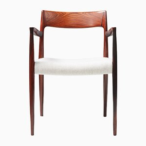 Mid-Century Model 57 Rosewood Armchair by Niels Otto (N. O.) Møller