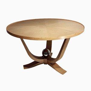 Tavolo Art Deco su piedistallo di Marcel Louis Baugniet