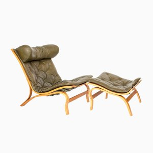Vintage Skandi Lounge Chair & Ottoman by Arne Norell for Arne Norell AB