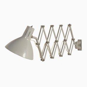 Lámpara de pared acordeón 110 industrial vintage de de H. Th. J. A. Busquet para Hala, años 60