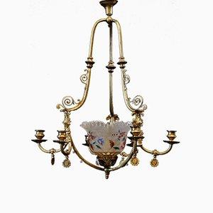 Chandelier Antique à 6 Bras à Essence, Espagne, 1850s