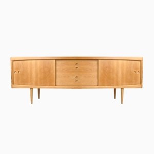 Oak Veneer Sideboard by H.W. Klein for Bramin, 1960s