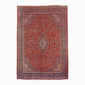 Vintage Hand-Knotted Middle Eastern Rug