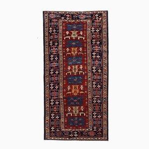 Antiker Handgeknüpfter Kaukasischer Azerbaijani Shirvan Teppich, 1880er