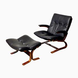 Vintage Siesta Sessel mit Ottomane von Ingmar Relling für Westnofa