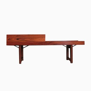 Vintage Rosewood Veneer Krobo Bench with Planter by Torbjorn Afdal for Bruksbo