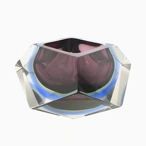 Italian Sommerso Glass Ashtray by Flavio Poli, 1960s