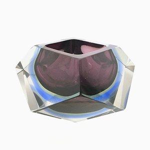 Posacenere Sommerso in vetro di Flavio Poli, anni '60