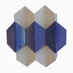 Blaue Vintage Wandleuchte von Bent Karlby für Lyfa