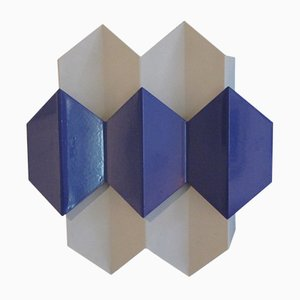 Vintage Blue Sconce by Bent Karlby for Lyfa