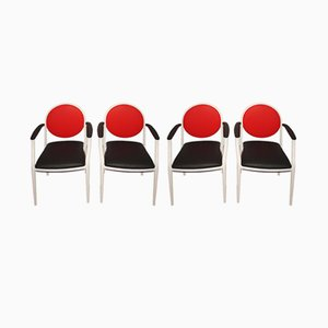Chaises de Souvignet Plichanse, France, 1970s, Set de 4