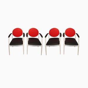 Sedie di Souvignet Plichanse, anni '70, set di 4