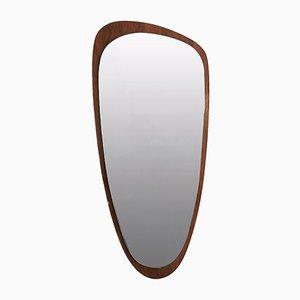 Specchio con cornice in teak, anni '50