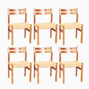 Chaises de Salon en Teck par Niels Møller, 1960s, Set de 6
