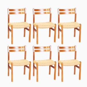 Teak Esszimmerstühle von Niels Møller, 1960er, 6er Set