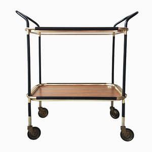 Italian Brass, Laminate & Metal Trolley, 1950s