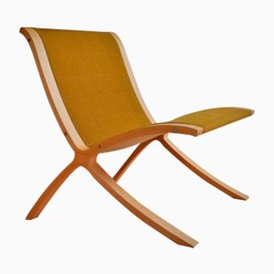 Mid-Century X-line Chair by Peter Hvidt & Orla Mølgaard-Nielsen for Fritz Hansen