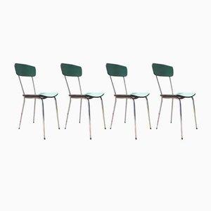 Chaises en Formica, 1950s, Set de 4