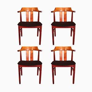 Schwedische Vintage Stühle von Gemla Møbler, 1974, 4er Set
