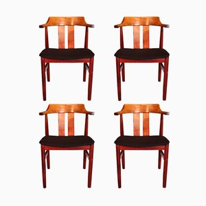 Vintage Swedish Chairs from Gemla Møbler, 1974, Set of 4