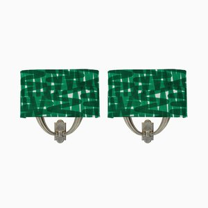 Mid-Century Italian Sconces with Shades