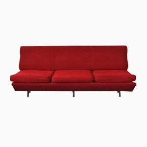 Sofá cama Sleep-O-Matic rojo de Marco Zanuso para Arflex, 1951