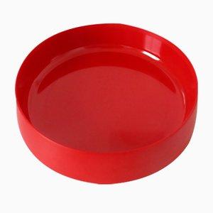 Plato de melamina en rojo de Kristian Vedel para Torben Ørksov, años 60