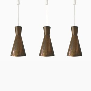 Mid-Century Modern Large Diabolo Pendant Lights, 1950s, Set of 3