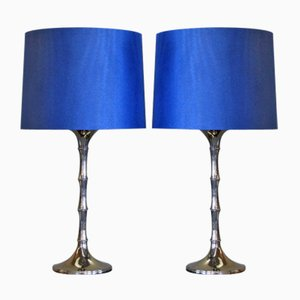 Blue Table Lamps by Ingo Maurer, 1970s, Set of 2