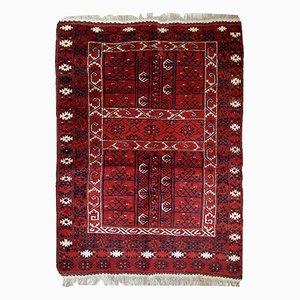 Vintage Handmade Turkoman Engsi Rug, 1970s